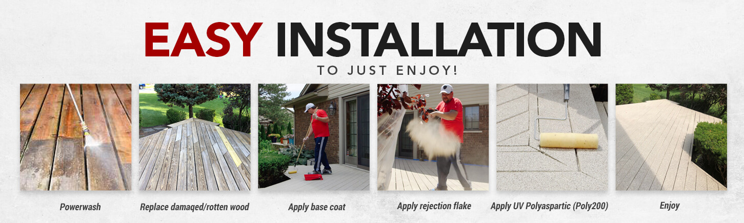 Easy Installations Deck Coating